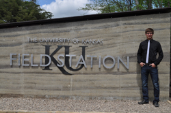 Scott Stoops, of Ottawa, is one of the students to work on the KU Field Station projects.